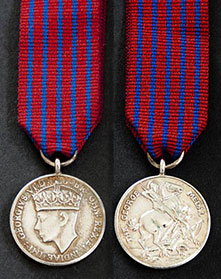 the george medal WWII