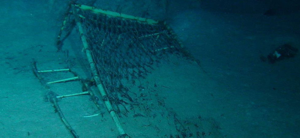 hospital bed on ocean floor at centaur wreck