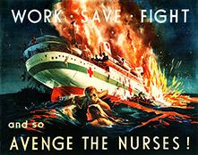 avenge the nurses WWII poster